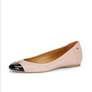 New Coach Chelsea Ballet Flats Tan Black 10